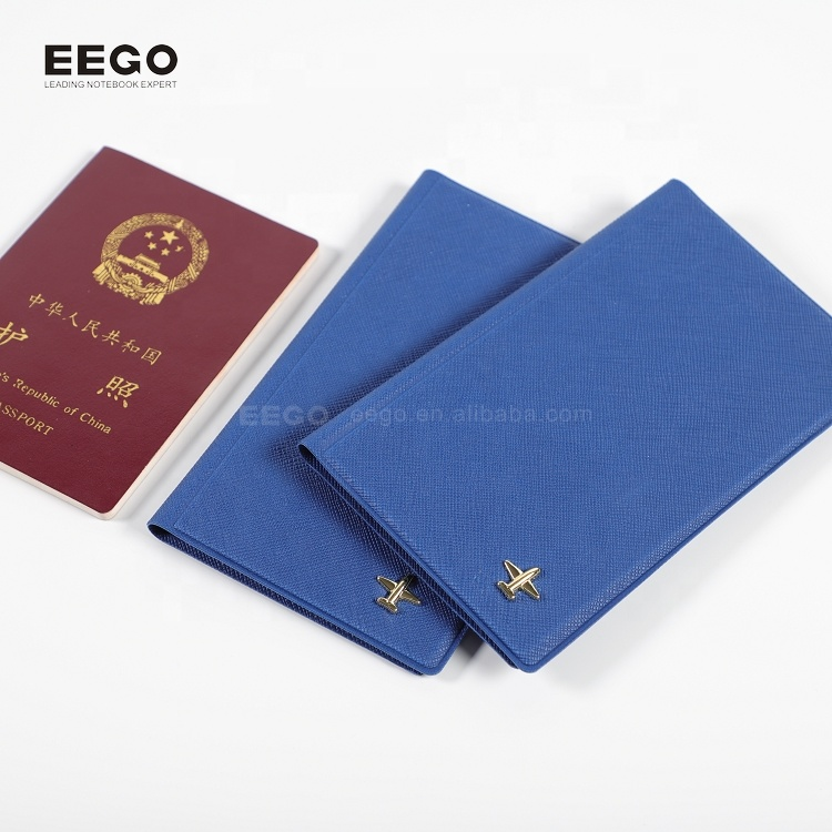 New design wholesale business customize logo rfid blocking pu leather cover travel passport holder