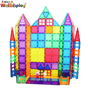 China Manufacture Professional Magnetic Tiles Building Blocks 100pcs