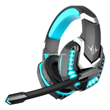 Gaming headset con la luce del LED logo personalizzato <span class=keywords><strong>cuffie</strong></span> stereo con microfono