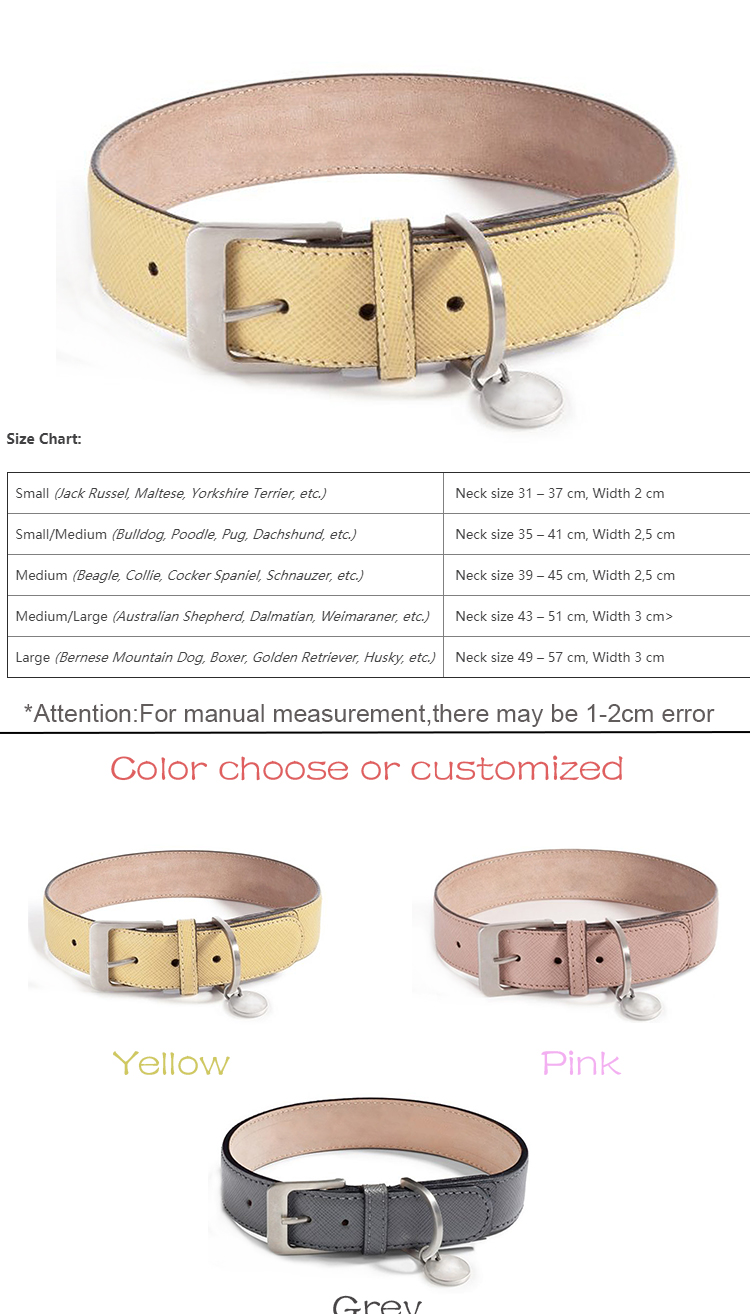 customized logo new arrival luxury designer fashion vegan leather pet accessories dog collar