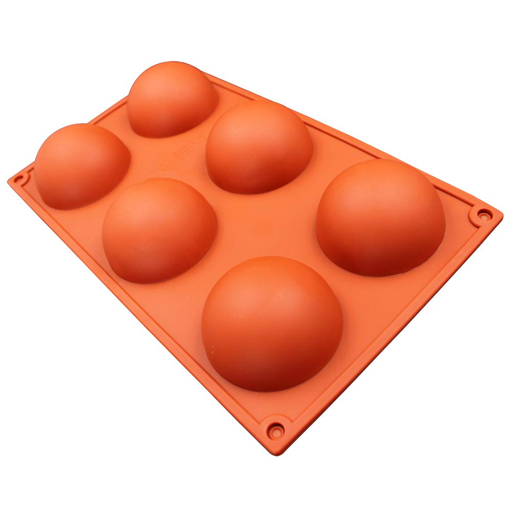 6 Holes Silicone Mold For Chocolate, Cake, Jelly, Pudding, Handmade Soap, Round Shape,