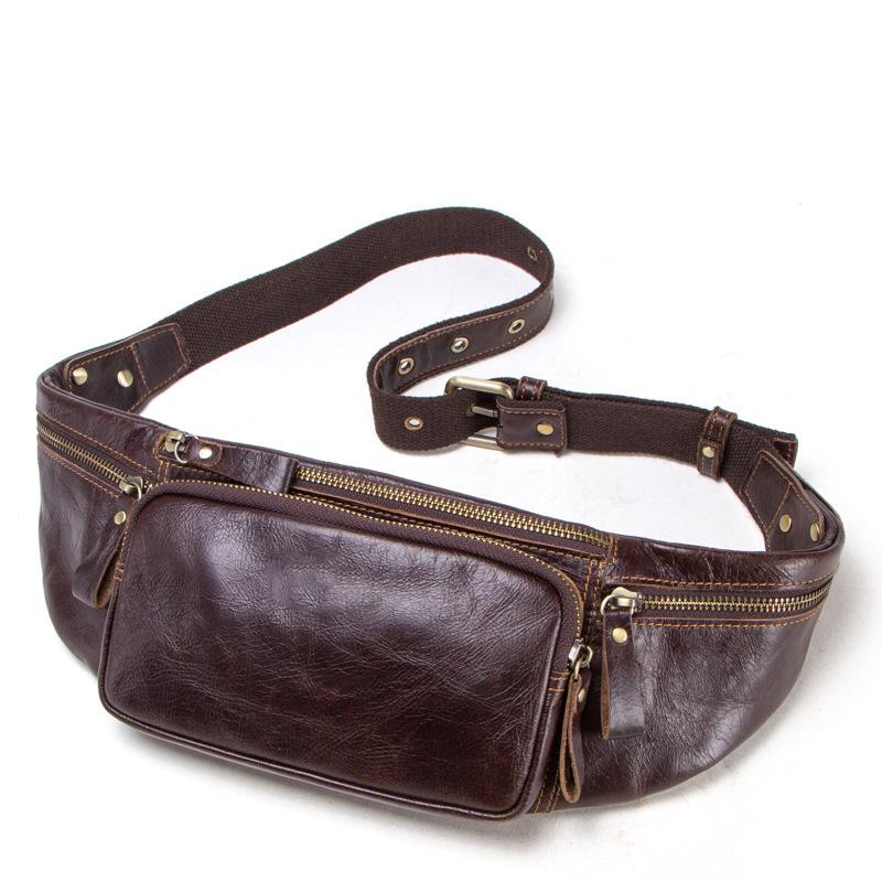 Venta al por mayor moda bolsas de cintura de cuero para