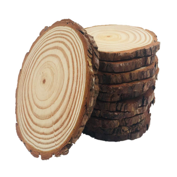 Wholesale Natural Round Wooden Slices Christmas Ornaments Kids DIY Crafts