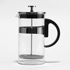 Wholesale Portable 600ml Glass Tea Coffee French Press Mug Coffee Maker