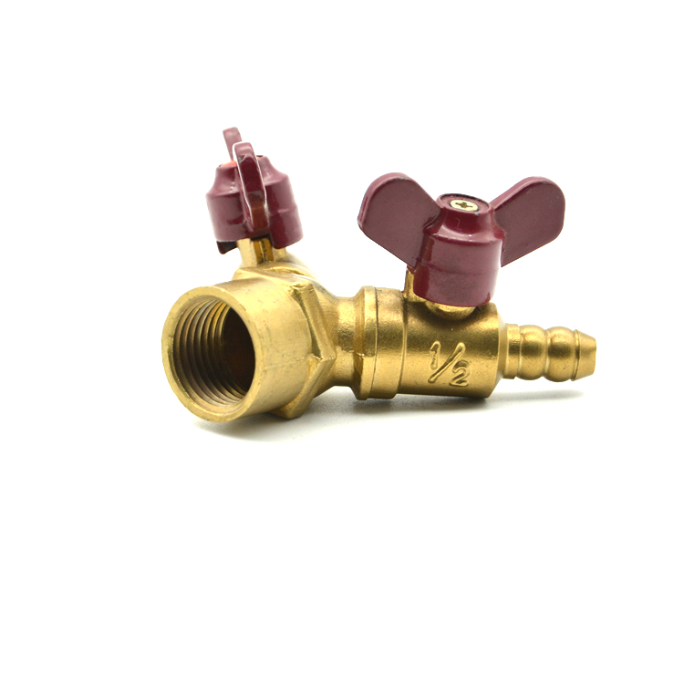 Quality Assurance Brass Ball Value Double-fork Male Thread Gas Valve