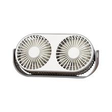 Парный вентилятор с воздушным охлаждением с двумя головками, складной USB вентилятор с вращением на 360 градусов, регулируемая скорость, Офици...(Китай)