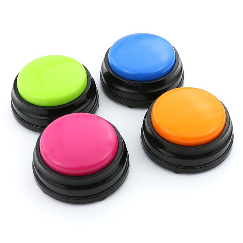 30 Natural Human Voice recordable push button toys buzzer for education