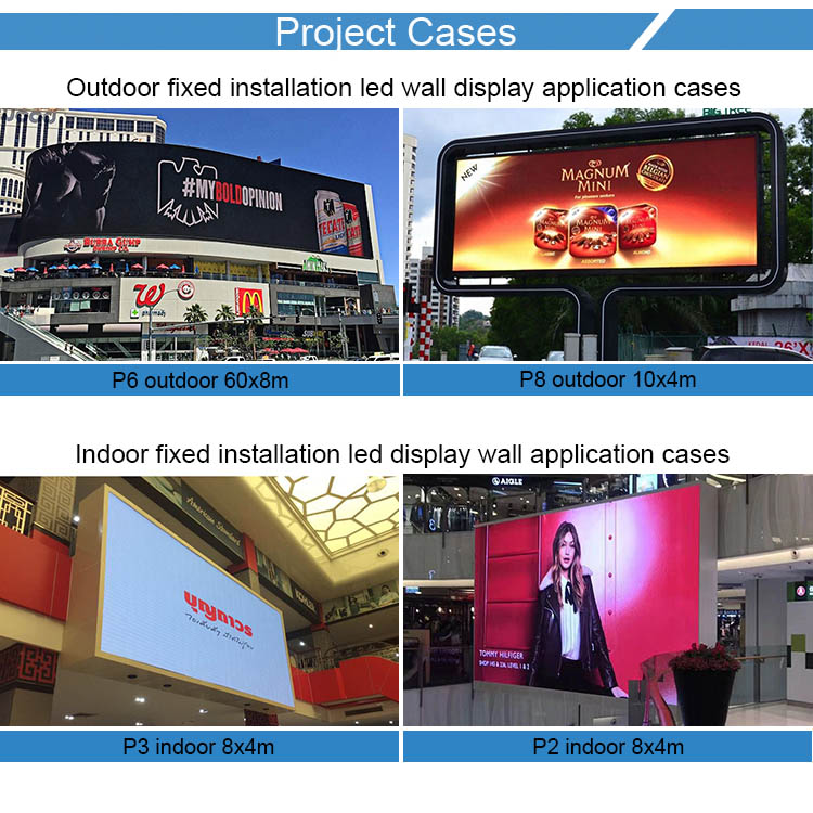 Waterproof die casting aluminum cabinet full color p4 full color indoor outdoor led screen