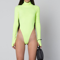 Female Shapewear Bodysuit Green Plus Size Bodysuit