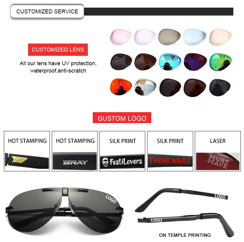 Fuqian folding sunglasses for business for driving-21