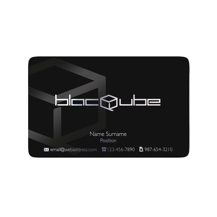 Thickness Plastic Rounded Corner Custom Business Card