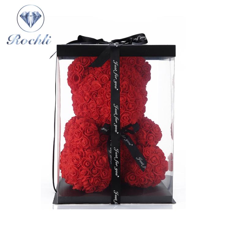 25CM दिल भालू लोकप्रिय और प्रीमियम थोक फोम/पीई गुलाब भालू वैलेंटाइन्स दिवस उपहार के लिए शादी की पार्टी सजावट
