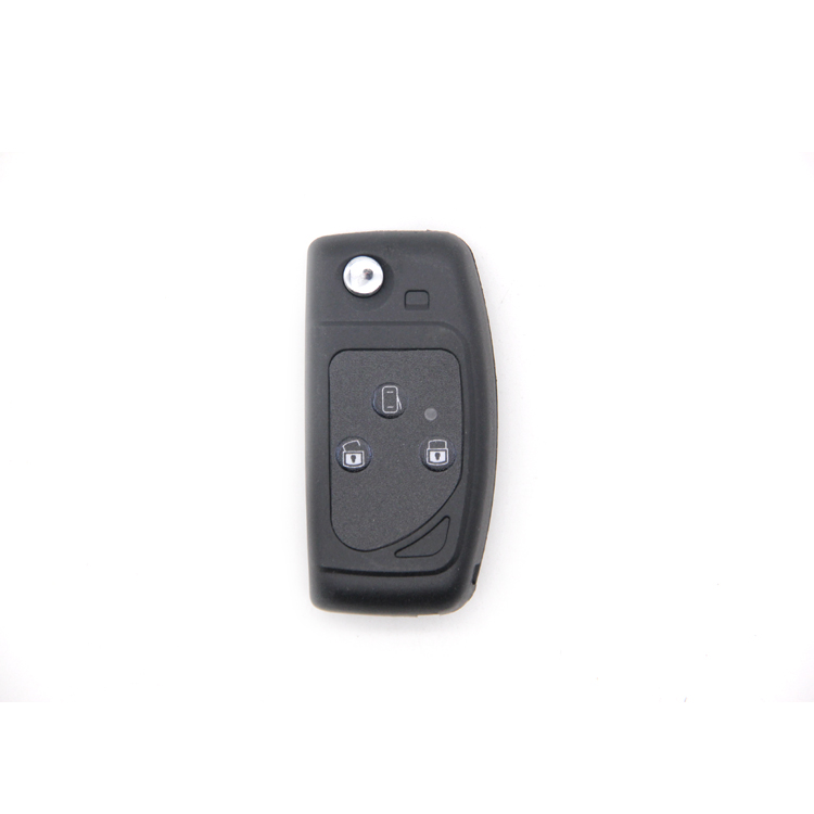 Car Key Shell Case Replace Smart Remote Car Key Case with Waterproof Pad 3 Buttons Brass Blade