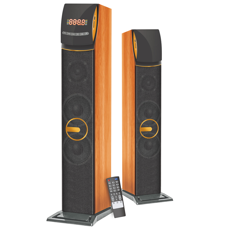 Aktif Home Theater Bluetooth Didukung Tower Speaker