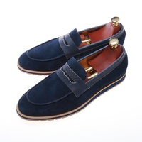 Stylish low heel made in china casual blue height increasing sexy shoes for men
