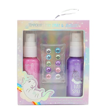 Temporary hair color spray with gems set hair color dye for kids easy washing
