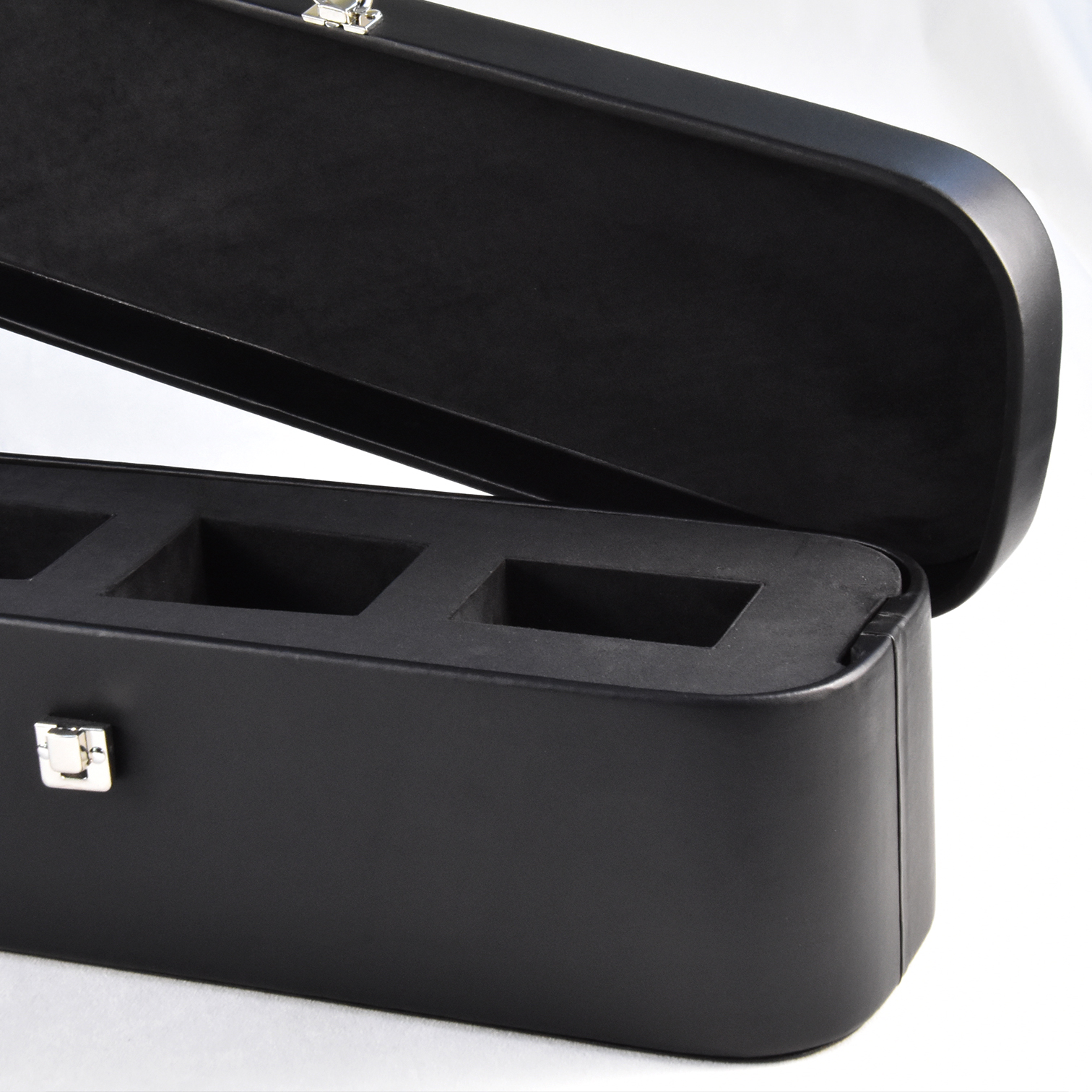 New design custom portable violin shaped leather wine box with lock