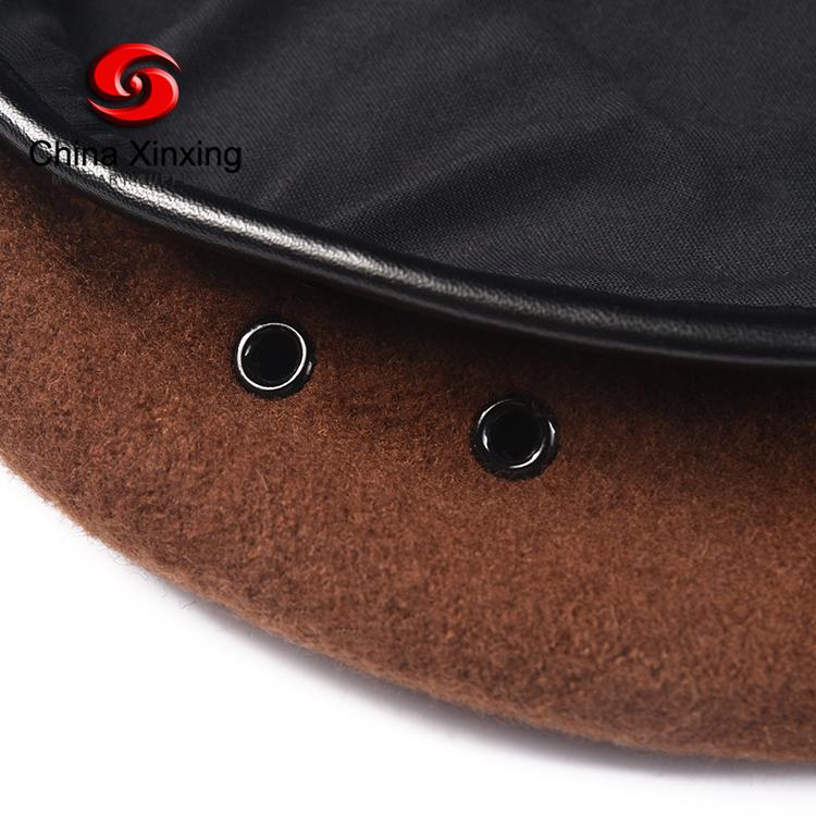 OEM 100% micro wool Brown Combat tactical military officer caps mens beret hat
