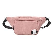 Вельветовая поясная сумка для женщин, новая дизайнерская холщовая поясная сумка, модная дорожная сумка для денег, телефона, нагрудная сумка...(Китай)