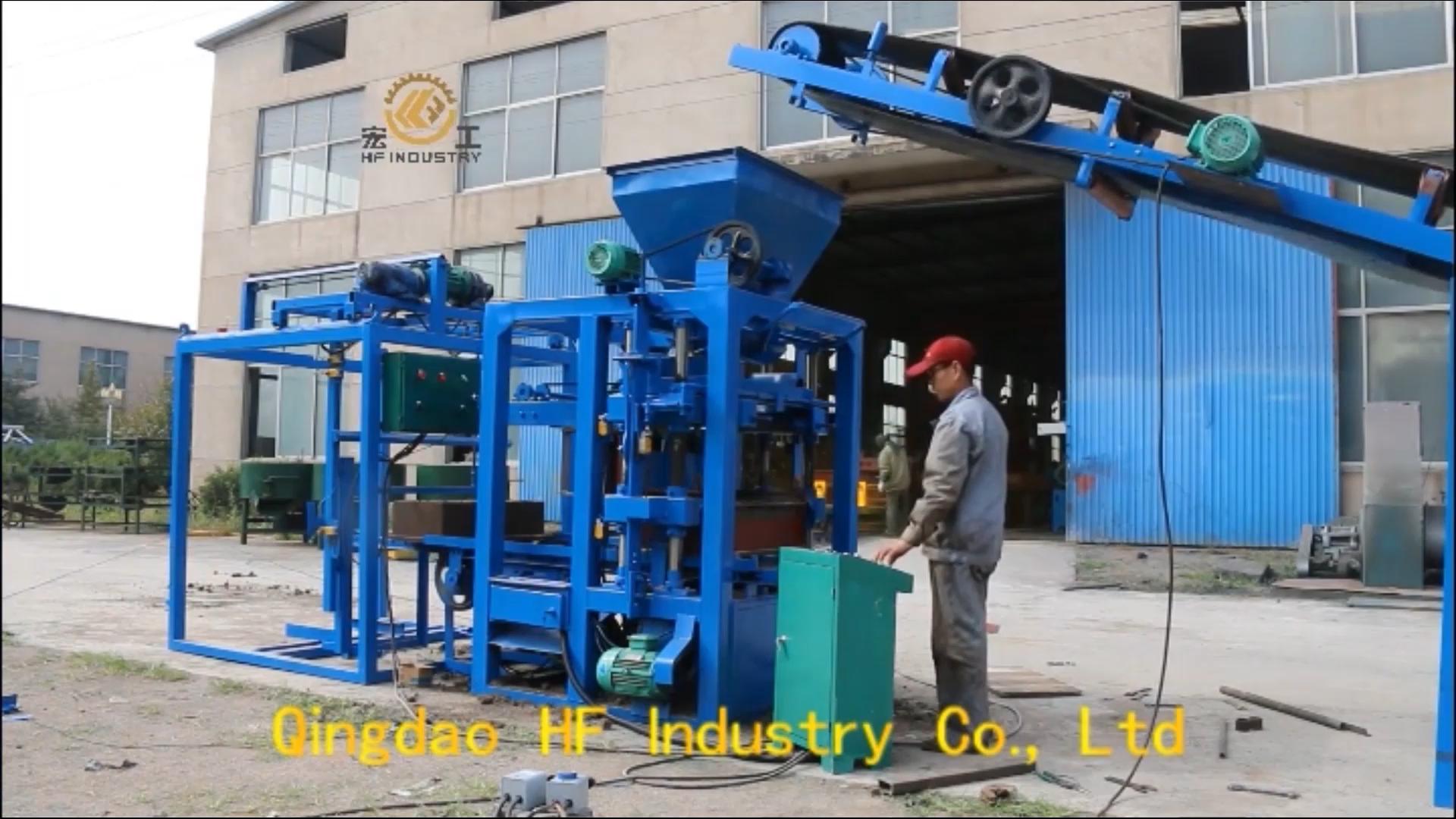 QT4-26 china semi-automatic concrete cement paver brick block making machine in jamaica for sale