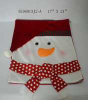 Snowman seat cover set of two red and white color Christmas chair cover Merry Christmas Gift