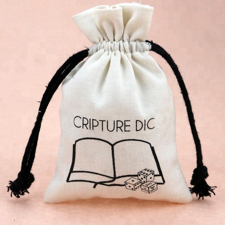 Personalized Wholesale Custom Printed Organic Cotton Drawstring Bag