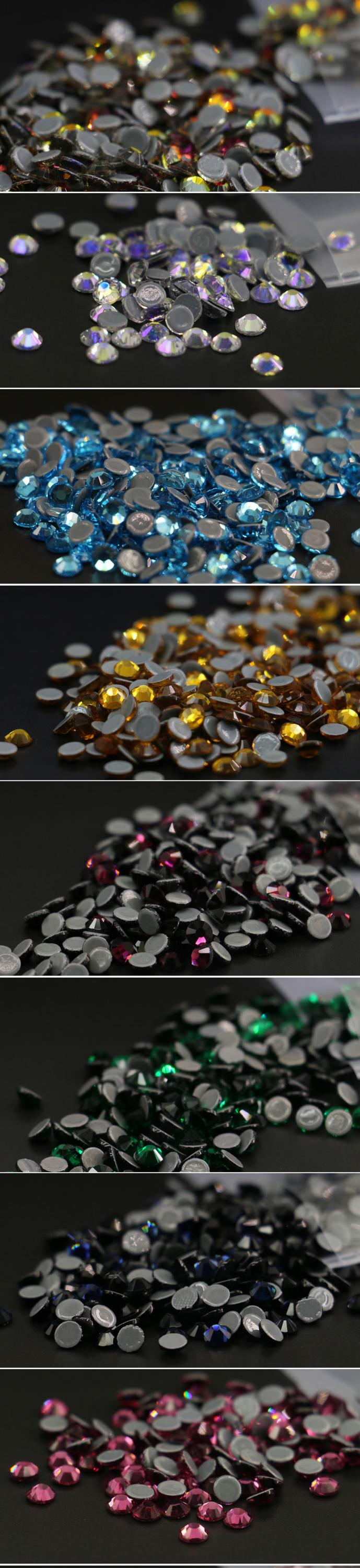 Crystal round Austria flatback rhinestones in bulk for jewelry decoration