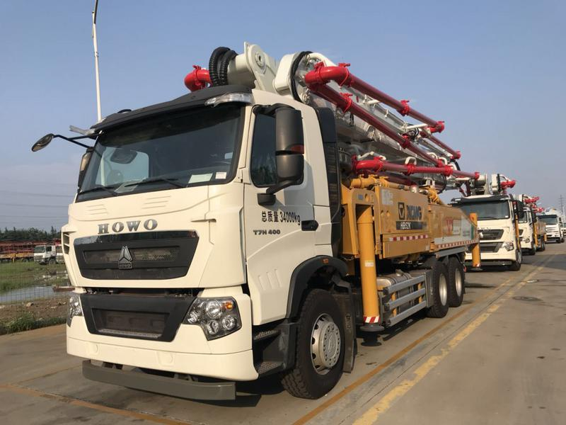 Cheap 55Cbm Small Trailer Concrete Pump For Singapore
