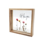 Wood picture frames wooden square frame wholesale for home decor