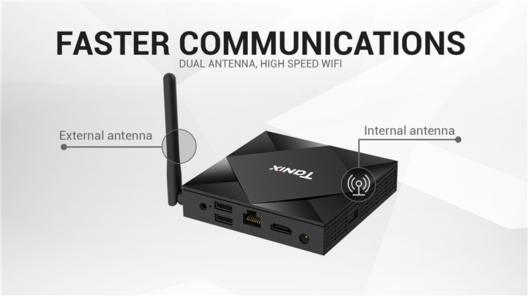 2020 Newest Android 10.0 Allwinner H616 2GB 4GB Dual Band Wifi IPTV Smart Android Tv Box 8K*4k Tanix TX6S tv box