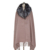 Top quality ladies women winter warm wool fabric and real fur collar shawl