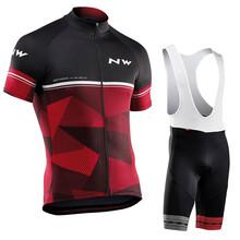 Northwave 2020 NW pro team летний комплект велосипедной одежды для велоспорта MTB дорожный велосипед de Ретро дорожный нагрудник шорты дышащий 9D гелевый ...(China)