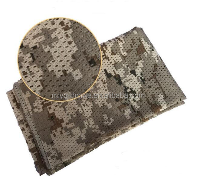 160CM Summer mesh camouflage scarf / military fan tactical headscarf / outdoor breathable sunscreen square towel