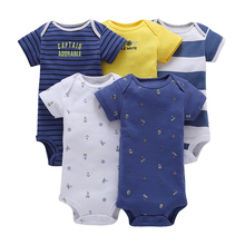 Wholesale OEM Organic Cotton Newborn Baby Boys Girls Rompers Onesie Bodysuit Clothes Sets