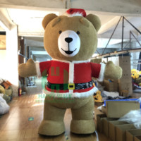 HI CE 2M,2.6M,3M Inflatable Christmas Teddy Bear costumes Animals mascot custom for hot sales