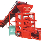 Small Auto Concrete Interlocking brick machine price QTJ4-26 cement block making machine Price Maquina Bloquera