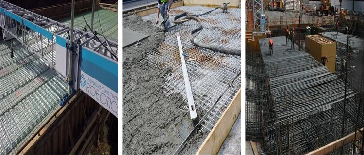 Negro concreto del Rebar del panel de malla soldada con autógena del metal del refuerzo para 5-16m m