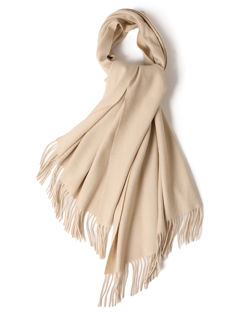 Customized solid color soft winter women wool shawl stoles cape poncho custom mens plain winter wool scarf