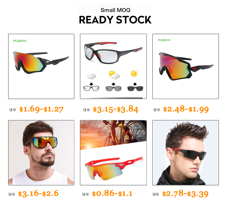 Fuqian uv sport sunglasses luxury style for lady