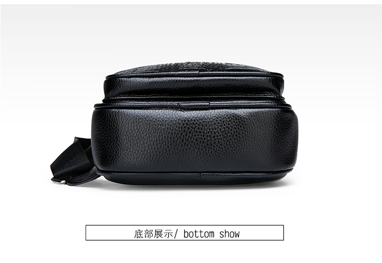 2020 crocodile alligator Pattern style chest bag Pu leather durable and fashionable crossbody bag light weight and convenient