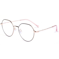 Hot Sale Optical Round Lens Metal Frame Glasses For Men Myopia