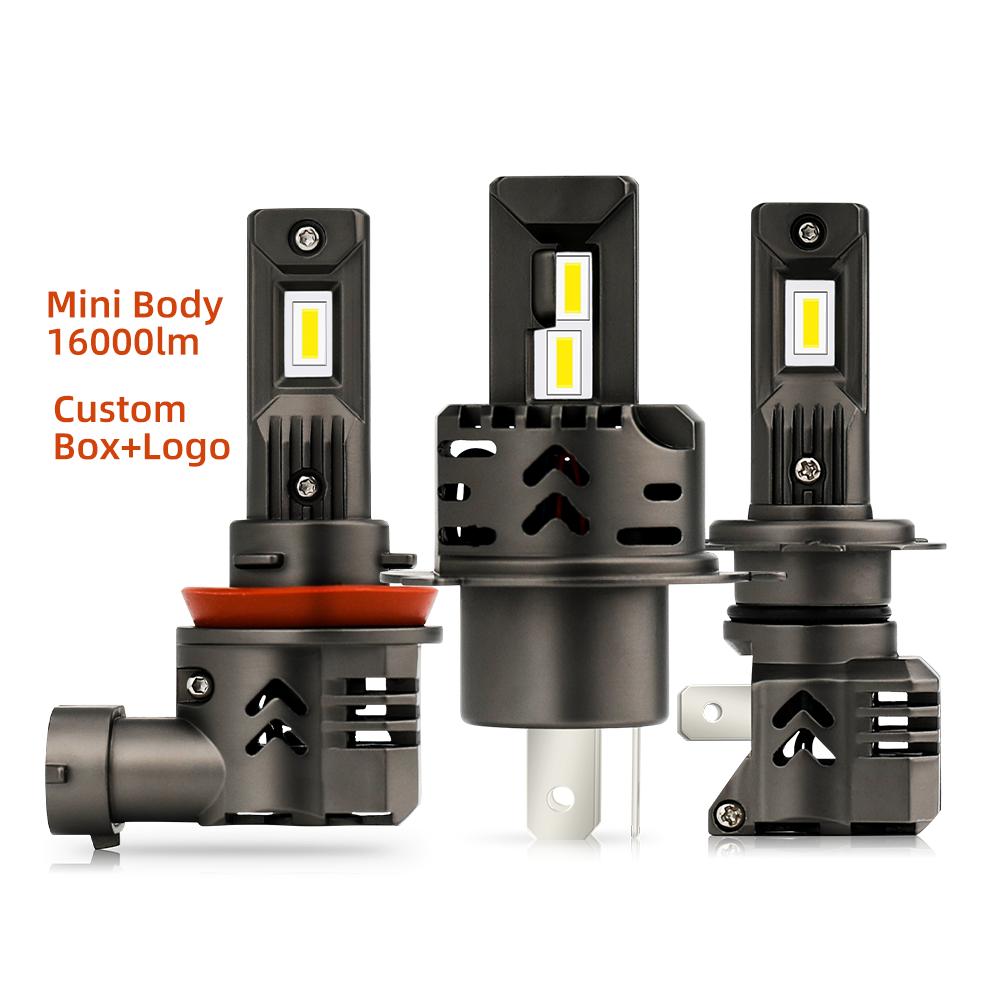 Wholesale Price 6500K LED Lights Bulb All in One 9005 H11 Car Mini H7 H4 M4 M3 Auto Car LED Headlight