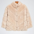 European Top quality Winter Thick Woman Rex Rabbit Fur coat for outdoor
