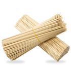 Bamboo Meat Skewer Disposable Sharp Round Bamboo Cotton Candy Floss Marshmallow Roasting Stick
