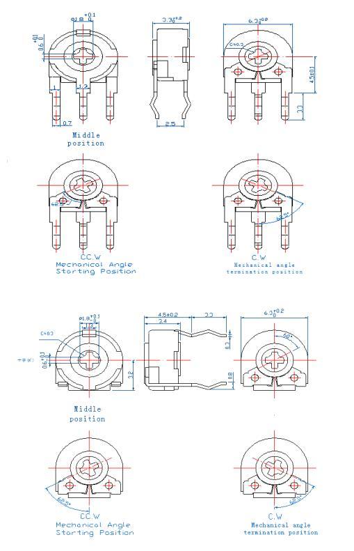 Potenciómetro 47K Resistor radio Repuestos material cerámica-metal 5 vatios RS 163-173 disipador de calor