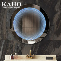 Round Touch Screen Bathroom Smart Infinity Mirror Led Smd Illusion Mirror