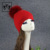 Fashion Winter Angora  hats Ladies winter beanie hats No flanged hat with raccoon fur pom pom