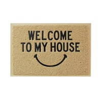 Welcome smile absorb mud custom coco coir rubber entrance door mat