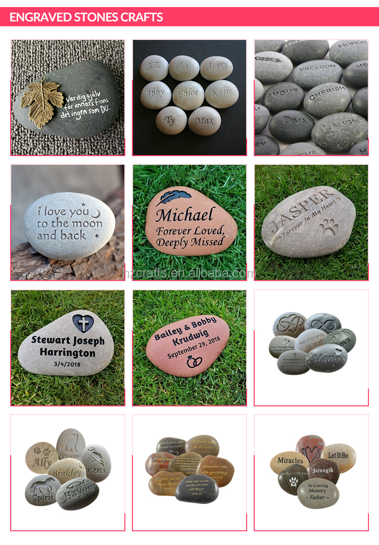High Quality Wholesale Customized Inspirational Stones Engraved Stones with CE Certificate