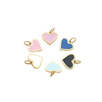 jewelry accessory Heart shape customized logo enamel charms name tags for leather bracelet jewelry making